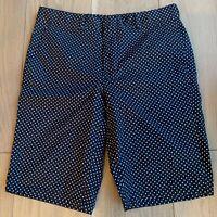 Gitman Vintage Made in USA Navy & White Cotton Polka Dot Shorts - Size 30