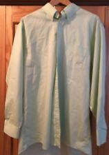 Stafford Oxford Men's Button Down Dress Shirt, Light Green 17 1/2  34-35