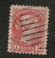 #45. - Canada - 1897 -  10 Cent - Used  - F - superfleas