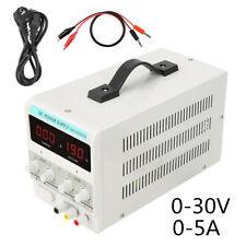 Regelbar Labornetzgerät Labornetzteil DC Trafo Netzteil 0-30V 0-5A EU-Stecker EY