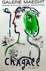 Hand Signed MARC CHAGALL - Rare vintage original Chagall exhibition poster