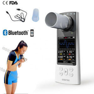 CE Digital Spirometer Lung Breathing Diagnostic Vitalograph,mouthpiece,bluetooth