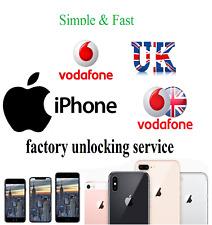 Vodafone UK Unlocking Service Unlock any Apple iPhone XS XS MAX XR X 8 8 Plus 7