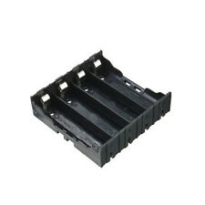 Black Battery Holder Box Case For 4 x 18650 3.7V Rechargeable Batteries Craft