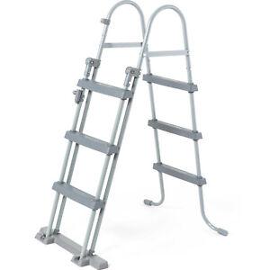 Poolleiter Sicherheitsleiter Bestway 58330 Pool Einstieg Leitern Treppe 107 cm