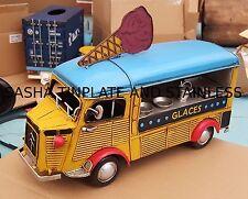 ICE CREAM TRUCK CITROEN TYPE H tin toy tinplate car blechmodell auto handmade