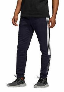 NEW!  ADIDAS size LARGE Mens Athletic Jogger Sweatpants black w/ pockets