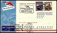Austria, First Fly Cover, Wien - Athen - Kairo, Year 1959, Austrian Airlines