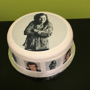 Harry Styles 03 pre-cut Edible Icing Cake Topper or Ribbon