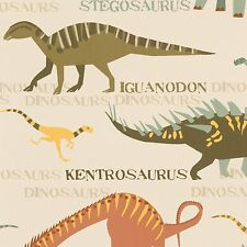 DINOSAURS NATURAL WALLPAPER ROLLS NEW (93633-10) A.S.CREATION