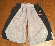 NIKE AIR JORDAN Boys Basketball Shorts Dri Fit Jumpman 23 Gray L (12-13yrs) New