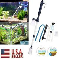 Electric Aquarium Cleaner Syphon Fish Tank Pump Vacuum Gravel Water Filter USA