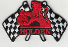 HOLDEN CHEQURED FLAGS EMBROIDERED PATCH