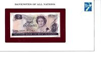 Banknotes of All Nations New Zealand 2 Dollars 1981 with Stamp UNC