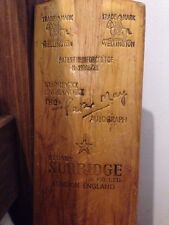 Cricket Bat Memrobilia Stuart Surridge & co Wellington Eng11 Peter May Autograph