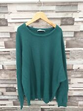 MENS DESIGNER GREEN BRIGHT BOLD CARLO COLUCCI PULLOVER SPORTS JUMPER VGC UK XL