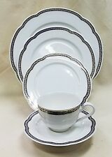ROSENTHAL PEARL CHINA RITZ BLUE 5 Piece Place Setting