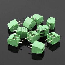 10 x 2 Pin 3.5mm 2 way straight pin PCB Universal Screw Terminal Block Connector