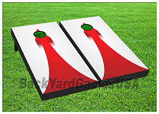 VINYL WRAPS Cornhole Boards DECALS Straight Up Arrow BagToss Game Stickers 572