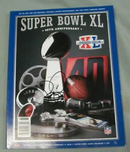 Jerome Bettis, Pgh Steelers, Signed Super Bowl XL Program, Clean