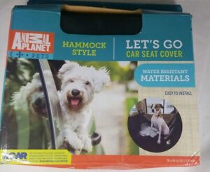 Animal Planet Bench Style Pet Car Seat Cover Lets Go Water Resistant Black NEW