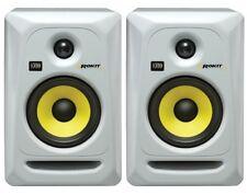 2x KRK ROKIT 5 RP5G3 RP5 G3 Pair WHITE - Active Studio Monitor Speakers