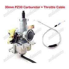 PZ30 30mm Carburetor Gas Throttle Cable For 200 250cc Dirt Pit Bike ATV Quad TTR