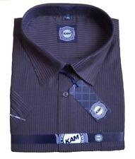 Camicie casual e maglie da uomo Viola a righe in cotone