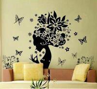 Schmetterlinge Wandsticker Wandtattoo Feen Frau Wand Aufkleber Mädchen Tattoo