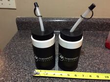 northwest airlines vintage water bottles lot of 2
