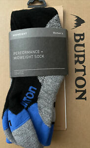 NEW BURTON Merino Wool Blend Performance + Mid Weight Snowboard Socks NWT