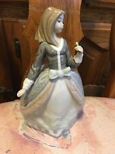 Lladro 5211 Angela Parasol is missing, fingertips on one hand missing! No Box!
