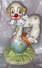 Lefton Clown Figurine #04036 Hand Painted China 1984