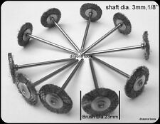 10 STEEL WIRE WHEEL BRUSHES COMPATIBLE WITH DREMEL ,FOREDOM  MULTI TOOL