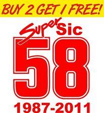 """Marco Simoncelli """"58"""" Super Sic Moto GP Sticker"""