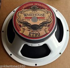 "WGS ET90 12"" 90 W 16 OHM BRITISH VOICED GUITAR SPEAKER - USA - 3 YEAR W ARRANTY"