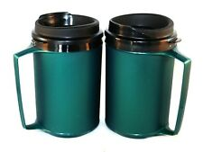 2 Foam Insulated 12oz ThermoServ Travel Mugs Green