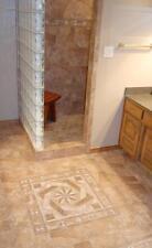 Custom made tile medallion & listello accents. Information Listing. Ebay store.