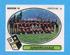 PANINI CALCIATORI 1977/78 - Figurina n.545- JUNIORCASALE - SQUADRA -Rec