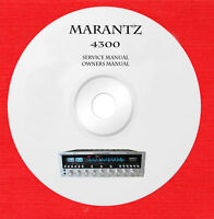 Marantz 4300 owner and service manual on 1 cd in pdf format