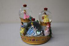 Disney Store Princess Musical Snow Globe Cinderella Aurora Ariel Snow White