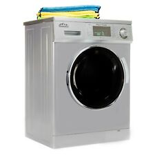 All-in-One 1.6 cu.ft. Compact Combo Washer and Electric Dryer in Silver