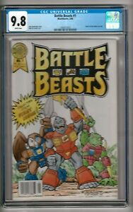 Battle Beasts #1 (1988) CGC 9.8  White Pages  John Stephenson - Andy Ice