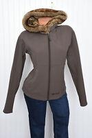 Marmot Womens Winter Nylon Fleece Lined Faux Fur Hooded Jacket Sz M