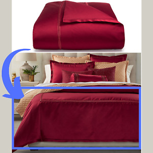 NIB $420 Hotel Collection Luxe Border KING Duvet Cover in Red #D82