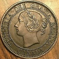 1859 CANADA LARGE CENT PENNY COIN - Excellent example!