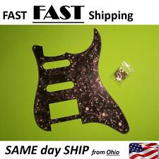 Guitar Pickguard Scratch Plate For Fender Strat ST Parts HSS 3 Ply Black Pearl