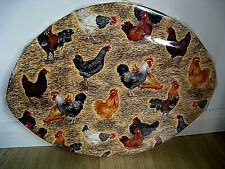 HANDMADE CHICKEN & EGG PIN BOARD - LIGHT BROWN