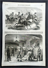 1863 Illustrated London News, American Civil War x 4 Pages - Riots in New York