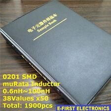 0201 SMD Chip Inductors Assorted Kit 0.6nH~100nH 38Valuesx50 Sample Book muRata